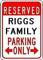 レトロヴィンテージティンサインリッグス家族駐車場の装飾の装飾キッチンストリート装飾装飾ビール看板クラブポスター屋外&屋内看板