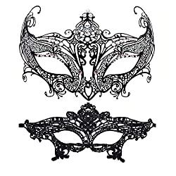 Corolla Masquerade Mask With Rhinestone Venetian Party