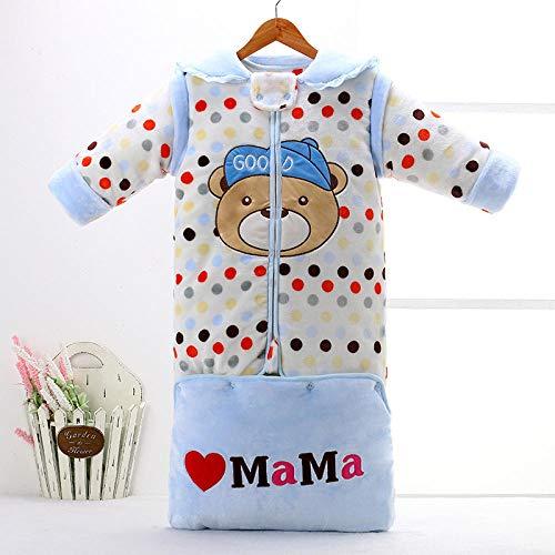 Dibujos animados 0-12 meses bebé saco de dormir gusano de seda capullo desmontable manga suave pijama de una sola pieza de uso doble cálido hombres y mujeres recién nacido saco de dormir universal
