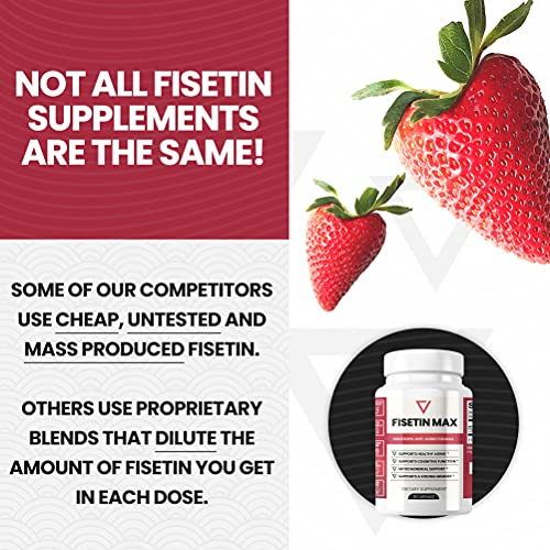 51Q5I9BnJRS. SL500  - Fisetin Max | Nootropic Anti-Aging Supplement - Doctor Approved Antioxidant Support for Healthy Aging, Better Brain Health, Improved Energy Levels, and Maintaining Strong Memory* - 30-Day Supply