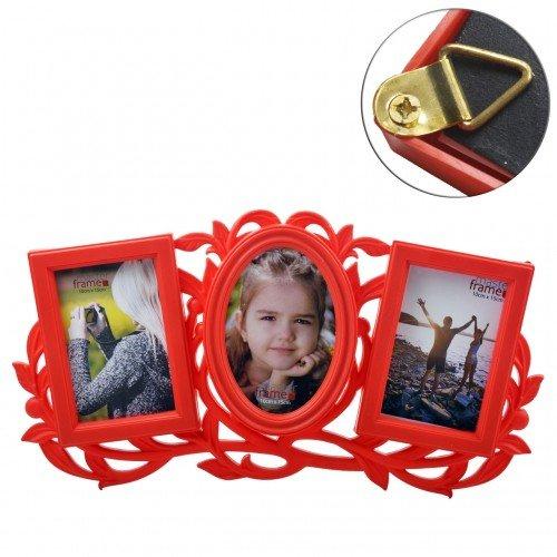 Porta Retrato Decorativo Múltiplo 3 Fotos