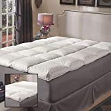 Super Snooze 5-inch 230 Thread Count Baffled Featherbed Set. Queen...