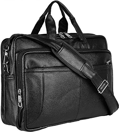 Thames by Lioncrown Faux Leather 15.6 Laptop Messenger Bag / Office Laptop...
