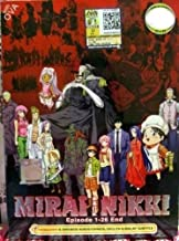 Mirai Nikki The Future Diary complete DVD Eps 1-26 anime ENGLISH DUB + SUBTITLE