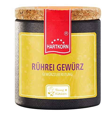 Rührei Gewürz - 40 g in der Young Kitchen Pappwickeldose mit Korkdeckel von Hartkorn - wiederverschließbar und wiederbefüllbar