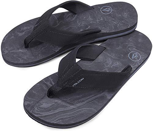 Volcom Men's Victor Flip Flop Sandal, Grey Blue, 11 D US