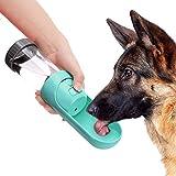 YOUTHINK Botella de Agua para Perros Gatos Dispensador Mascotas Bebedero Taza Antibacterial Portátil Telescopic para al Aire Libre Viaje Caminar 300 ML Turquesa