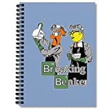College Ruled Spiral Notebook Breaking Journal Beaker Composition Notepad Planner Journaling Notebooks Wide Ruled Hexagon Paper Comic Book Bills Tracker