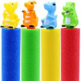 Water Blaster Soaker Squirt Gun Outdoor Water Pool Noodles Foam Toys for Kids Toddlers,4 Pcs Animal Figures Water Guns for Kids Shoots Up to 27 Ft Summer Swimming Pool Beach Water Fighting Party