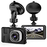 """VKAKA Dash Cam - 3.0"""" DVR Monitor Camera Video Recording System in Full HD 1080p w/Built in G-Sensor Motion Detect Parking Control Loop Record Support"""