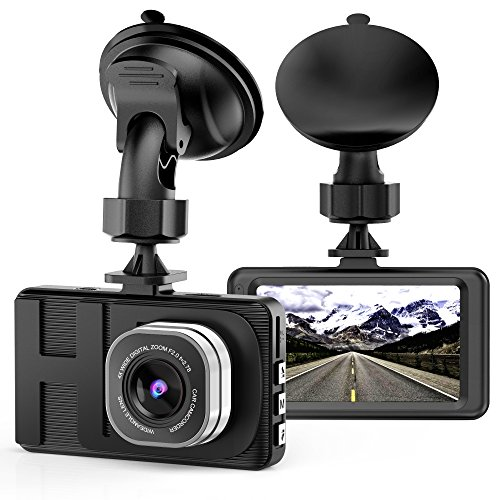 "VKAKA Dash Cam - 3.0"" DVR Monitor Camera Video Recording System in Full HD 1080p w/Built in G-Sensor Motion Detect Parking Control Loop Record Support"