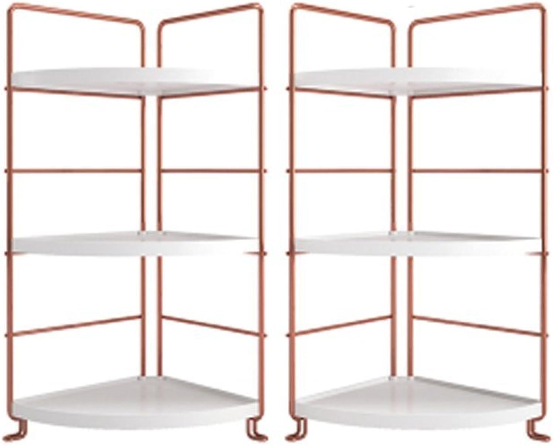 LQQGXL.Storage and Organization Shelf Economy is Modern and Simple Desk Shelves Living Room Turquoise Racks Triangular Bookshelf Desktop Shelves White gold (color   Combination)