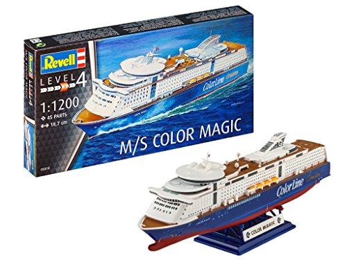 Revell 05818 12 Modellbausatz M/S Color Magic im Maßstab 1:1200, Level 4