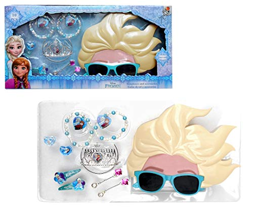 Disney Frozen Set Regalo, Gafas 3D, Accesorios Pelo y bisuteria Sol, Juventud Unisex, Multicolor, Talla Única