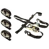 Rage Powersports 4-Pack of ATV or UTV Wheel Anchor Bonnet Ratcheting Tie-Down Straps