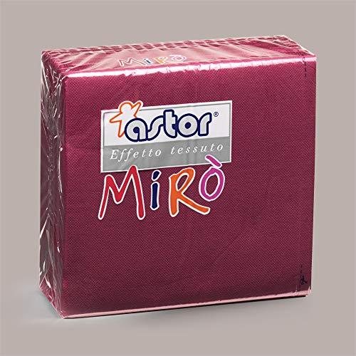 LUCGEL Srl 80 Pezzi Tovaglioli di Carta Colorati BORDEAUX MIRO' ASTOR 38x38 Lilac Napkins