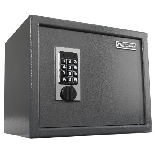 First Alert 2072F Anti-Theft Safe with Digital Lock, 1.00 Cubic Foot, Gray