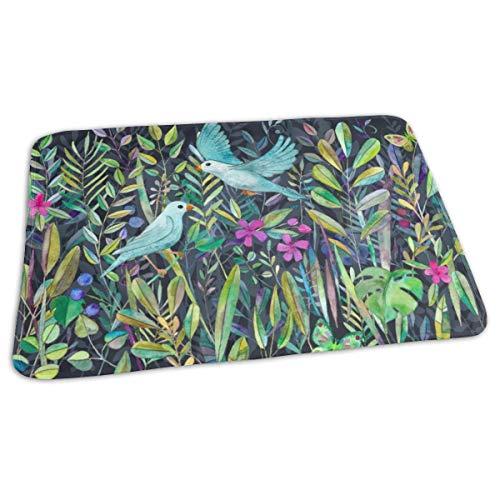 Kleine Tuin Vogels Streep Formaat Groot Bed Pad Wasbaar Waterdichte Urine Pads voor Baby Peuter Kinderen en Volwassenen 27.5 x19.7 inch