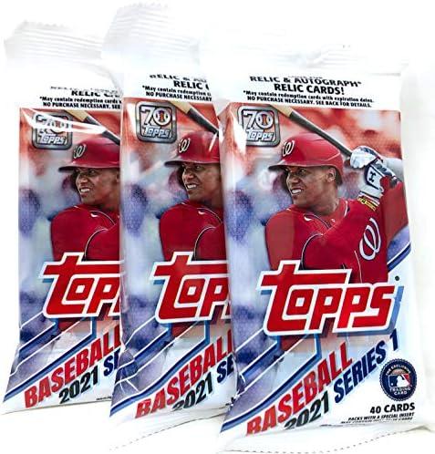 2021 Topps Series 1 Baseball Fat Pack 3 Packs product image