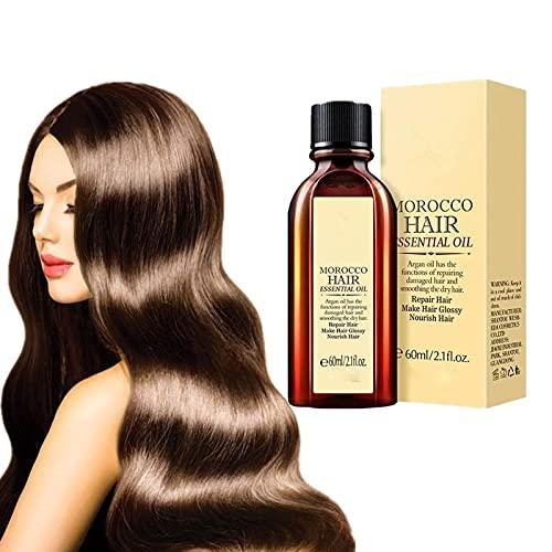 60ML/2.1FL.OZ Multi-functional Hair Essential Oil,Oil of Morocco,Hair Tonic Oil,Natural Hair Growth Oil,Herbal Hair Oil, Hair Oil Treatment for Dry Damaged Hair (1bottle)