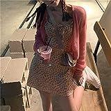 YUNCHENG French Super Fairy Sweet Temperament Falda Floral Suspender Vestido Femenino Diseño de Verano Niche 2021 Coat, Size : One Size