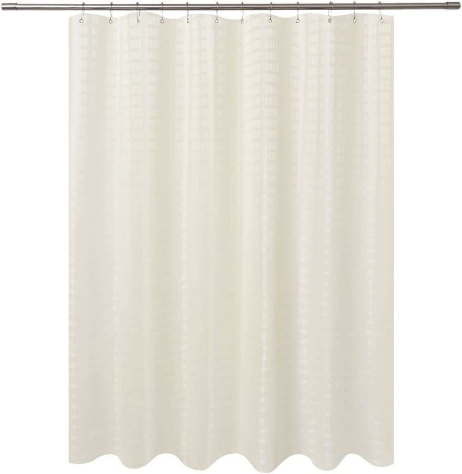 Barossa Design Fabric Shower Curtain Water Bombing free Outstanding shipping Grade Re Cream Hotel