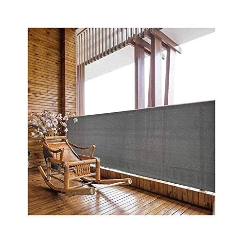 PLMOKN Balcone Breeze, Protezione Parabrezza per Parabrezza Protezione UV Balcone Balcone Copertura Cavo Morsetto, 72 Taglie (Color : Gray, Size : 0.9x7m)