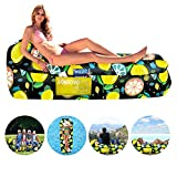 Inflatable Lounger Air Sofa Portable Waterproof Inflatable Pouch Couch with Pillow and Carrying Bag for Outdoor Camping, Picnics, Pool, Travel, Hiking, Beach (Fruit)