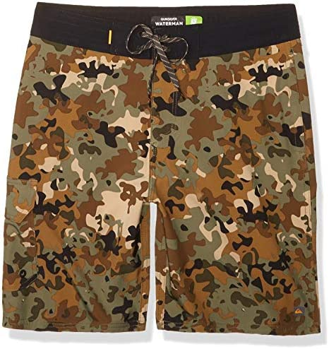 Quiksilver Waterman Men s Angler CAMO Beachshort 20 Swim Trunk Forest Night 36 product image