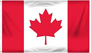 DANF Canada Flag 3ftx5ft Canadian National Flags Polyester with Brass Grommets 3x5 Foot Flag