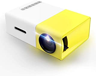 Projector, LoongSon Mini Portable LED Projector, Smartphone Pocket Projector with AV USB SD HDMI for Video/Movie/Game/Home...