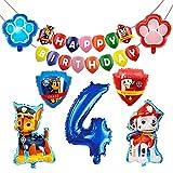 HONGECB Globos de Patrulla Canina, Decoración Cumpleaños Patrulla Canina, Banner de...