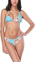Conjuntos De Damas Bikini De Arriba Empujar hacia Flores Moda Ropa Festiva con Traje De Baño Patrón Halter Neck Monokini Tankini Mujeres Traje De Baño Playa Moda