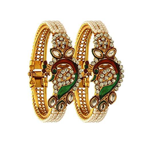 fasherati Dancing Pfau Antik vergoldet Armreifen/Kristallsteinen Schmuck für Frauen/Mädchen