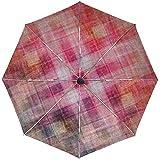Paraguas automático Línea Color Fondo Superficie Viaje Cómodo A Prueba de Viento Impermeable Plegable Automático Abrir Cerrar