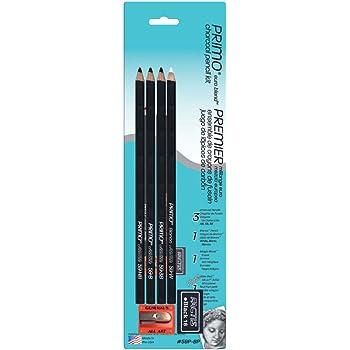 General Pencil 59P-BP Primo Euro Blend Charcoal Pencils,Multicolor
