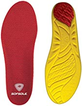Sof Sole Men's Arch Insoles, Red, Men's 9-10.5