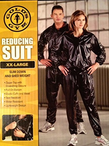 Gold's Gym Zipper Top Reducing Suit (Sauna Suit), XX-Large by Gold's Gym Reducing Suit