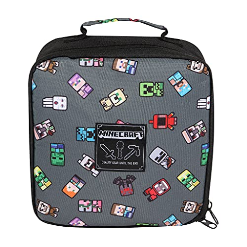 Minecraft Mini Characters Boys Lunch Box | Official Merchandise | Back to School, Gamer Lunchbox, Young & Teen Gaming Fan Birthday Gift Idea