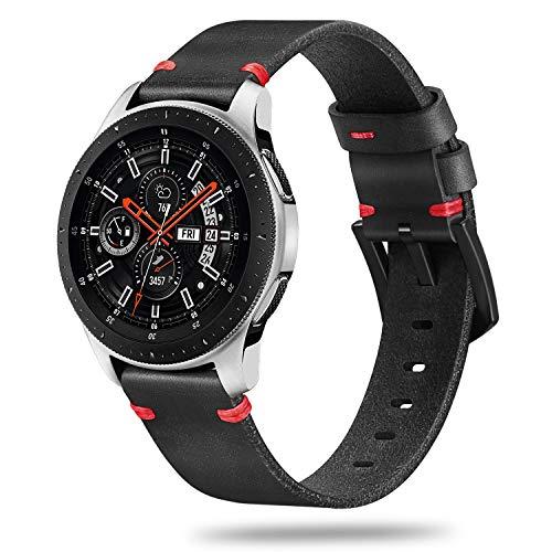 Fintie echt lederen armband voor Samsung Galaxy Watch 46mm / Gear S3 Frontier/Gear S3 Classic Smartwatch - Horlogeband van premium echt leer reserveband met roestvrijstalen gesp,