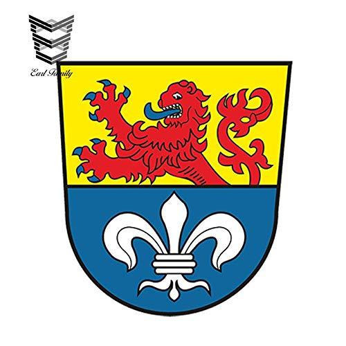 RSZHHL Sticker de Carro 13 cm x 12,2 cm Estilo de Coche Pegatina para Coche Escudo de Armas de Darmstadt Alemania Armario para Ordenador portátil Tableta Sombrero Duro calcomanía Impermeable