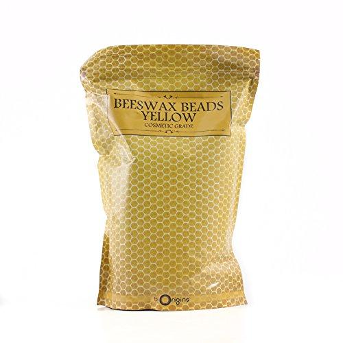 Cuentas de cera de abeja sin refinar, 1 kg