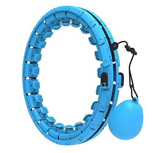 Uniguardian Smart Hula Fitness Hoops Erwachsene mit Gewicht, Smart Hula Fitness Reifen, 24 Abnehmbare Knoten Hoola Reifen für Kinder Erwachsene Anfänger für Abnehmen, Fitness, Massage