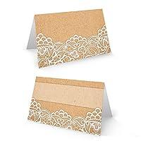Petits cartons pour la table, aspect ancien et nostalgique, dimensions du carton plié: 8,5x5,5cm. Papier résistant pour que les cartons tiennent correctement: 250g. Il est possible d'écrire dessus avec n'importe quel stylo ou d'imprimer une ins...
