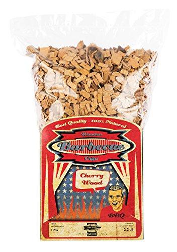Axtschlag Räucherchips Kirsche, 1000 Gramm sortenreine Räucherspäne für besondere Rauch- und Geschmackserlebnisse, für alle Grills