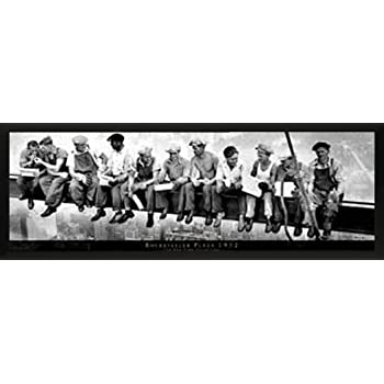 Framed 12 x 36 Print Men Eating Lunch on a Girder Decorative Photography Print Culturenik E New York Lunchmen on Beam