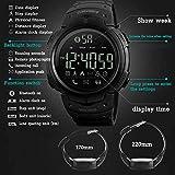 Reloj electrónico para deportes al aire libre, Bluetooth, podómetro, cámara, información, recordatorio de aplicación de aplicación, color negro