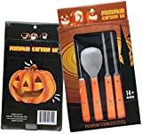 Professional Pumpkin Carving Kit (11.5 inch) - Heavy Duty Stainless Steel Tool Set (XL)