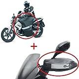 Compatible con Honda CBR 1000 RR Cubierta Pierna Manta TÉRMICA Impermeable + Cubierta Manguitos Universal Lluvia Manos para Motocicletas OJ Montaje RAPIDO