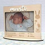 Marco de madera Bebé personalizado